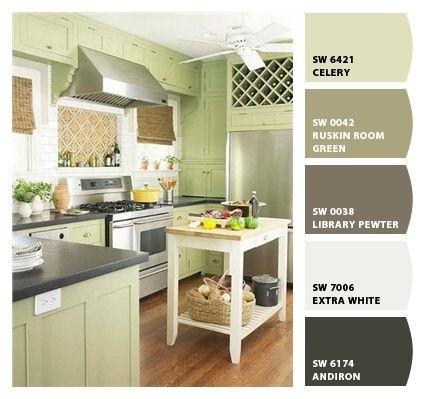 Gabinetes verdes para cocina colonial | cocina_verde04 | Cocinas ...