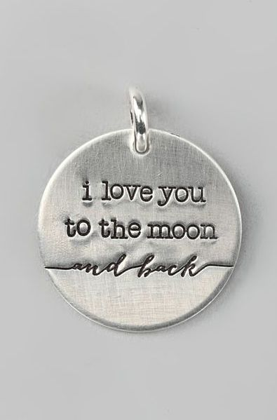 Sterling Silver Expressions 'I Love You to the Moon' Charm
