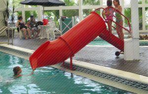 Mini Slide In The Indoor Pool Area At Sandpiper Beacon Beach Resort Panama City Fl