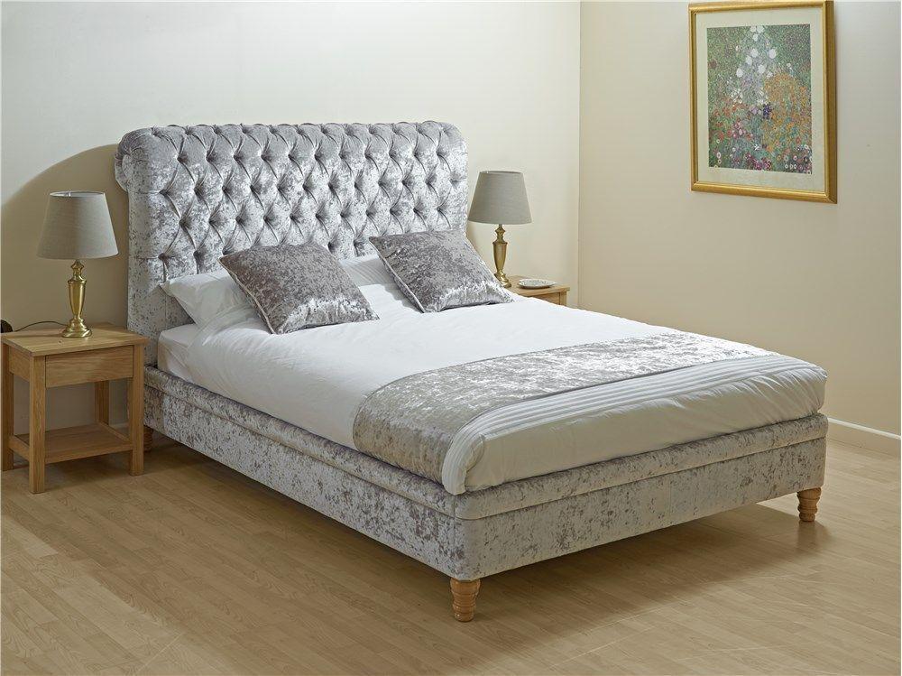 Details About Crushed Velvet Bed Frame Double 4ft6 Bedstead