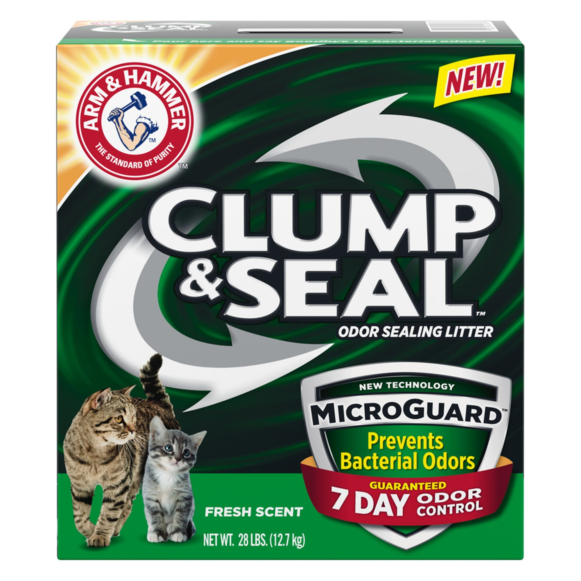 ARM and Hammer, Clump and Seal MicroGuard Fresh Scent Cat