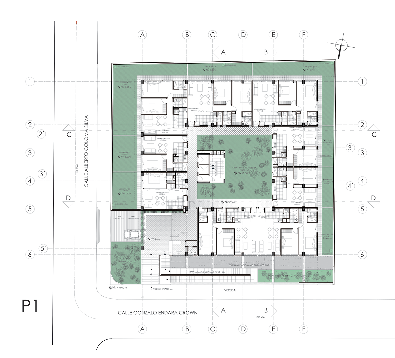 Gallery Of Vivalto Building Najas Arquitectos 11 Architectural Floor Plans Architecture Plan Building Design