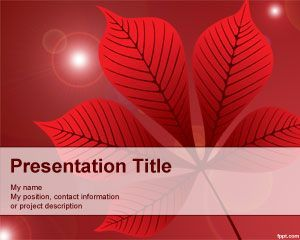 Plantilla powerpoint con hoja roja hhhh pinterest indonesia red leaf powerpoint template is a free red powerpoint template background that toneelgroepblik Gallery