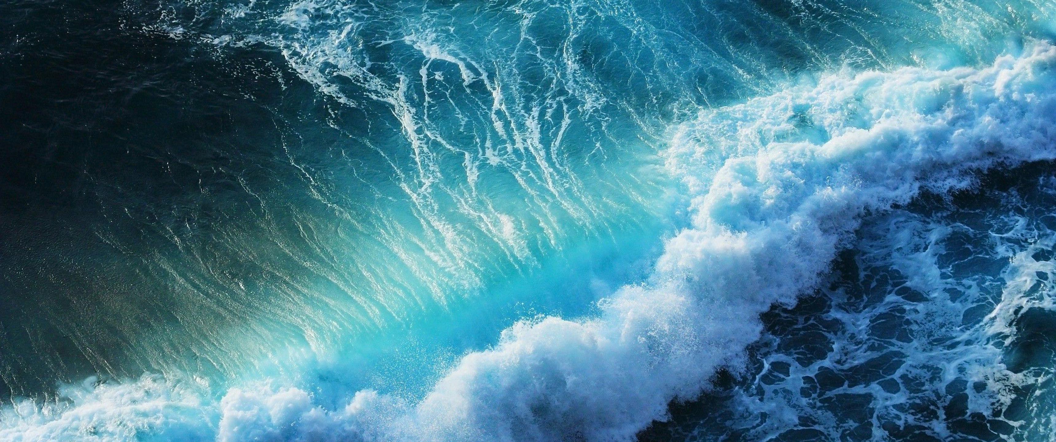 Ultra Wide Wallpaper Цветовые палитры, Волны, Океанские
