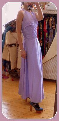 VINTAGE UNIKAT Pereda Abendkleid schwingendes langes Kleid 34 36 Maxikleid Party | eBay