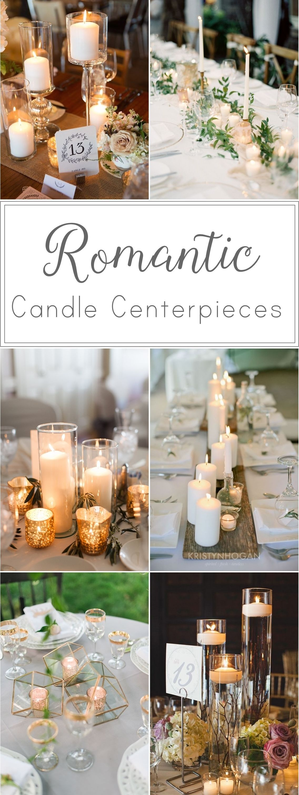 Candle centerpieces add that perfect ambiance to a wedding reception ...