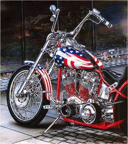 Red White Blue Custom Motorcycles Pinterest Red White
