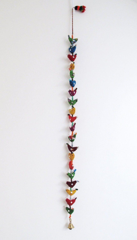 20-Bird Bell Tota Traditional Indian Hanging Decoration: Amazon.co ... for Indian Hanging Decorations  66pct