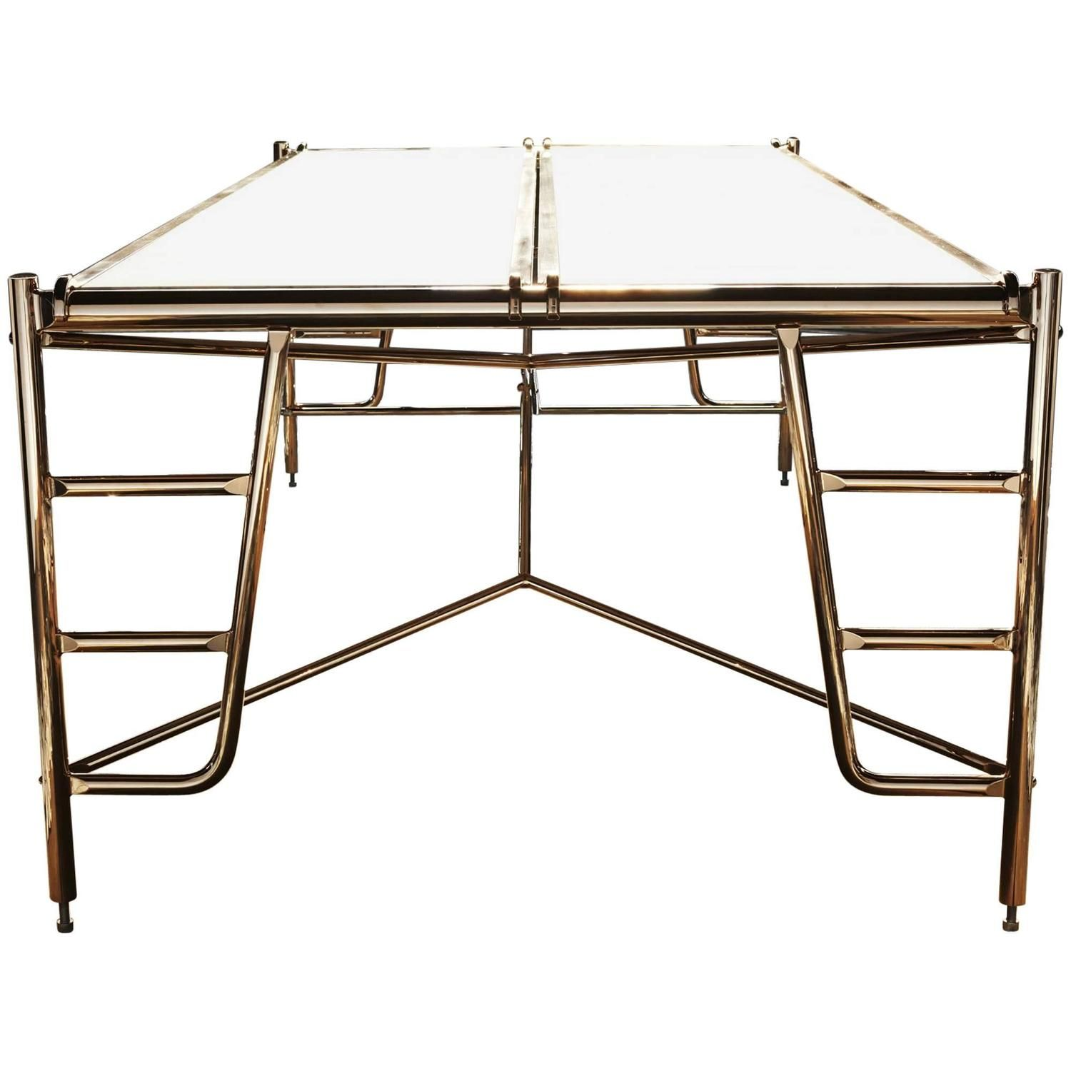 Scaffold Conference Table In Marble And Bronze With Seating For - Marble conference table for sale