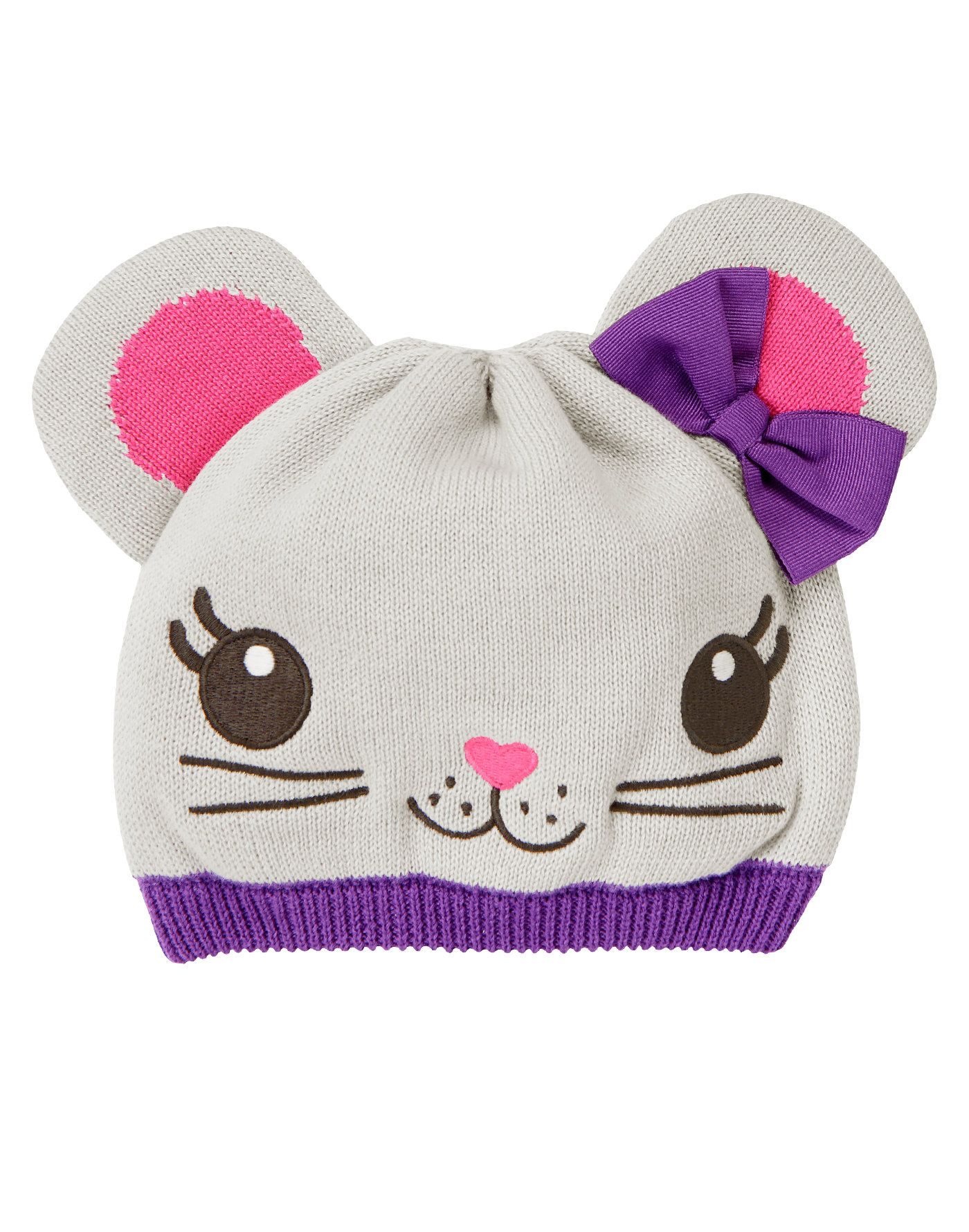 Bow Mouse Sweater HatCute little mouse for chilly days. Cozy sweater ... df054b04e44d