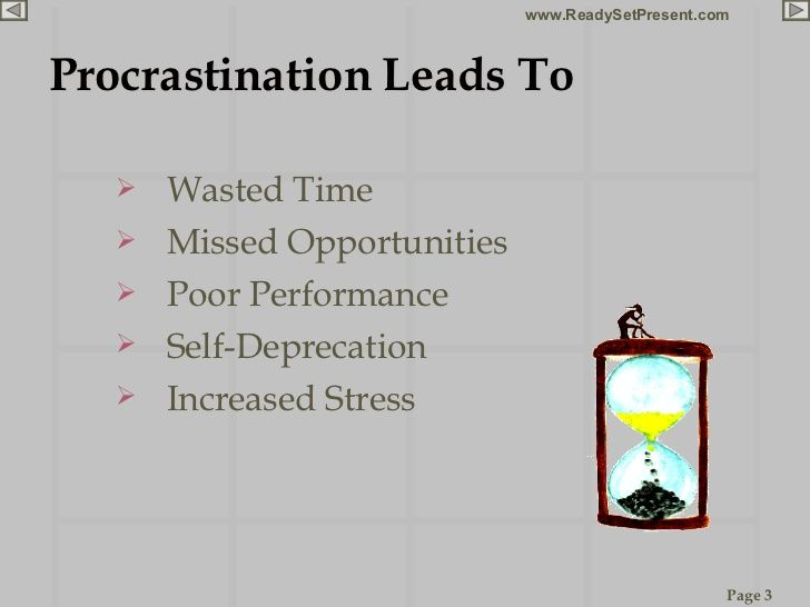 procrastination essay introduction cause and effect Procrastination essay examples an introduction to the comparison of procrastination and the effects of procrastination on personal discipline and the quality.