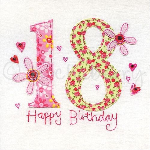 18th birthday card cards birthdays and happy birthday 18th birthday card 18th greeting card eighteenth birthday card bookmarktalkfo Images