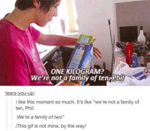 """we're a family of two"""