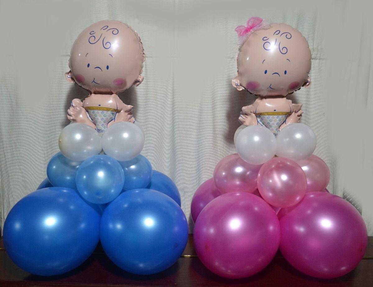 Arreglos Globos Baby Shower Decoracion Baby Shower Baby Shower Twins Baby Shower
