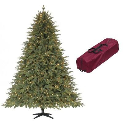 Martha Stewart 7 5 Ft Monterey Fir Quick Set Artificial Christmas Tree With 800 Clear Lights F Artificial Christmas Tree Christmas Tree Very Merry Christmas