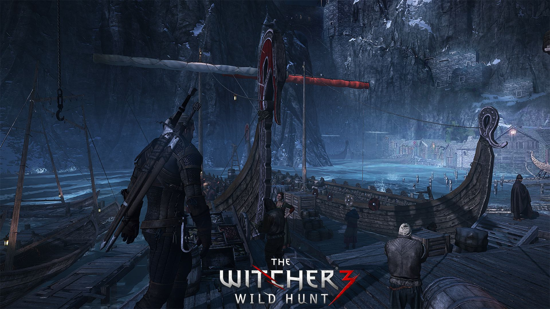Wallpaper The Witcher 3 Drakkar Port Poster 1920x1080 The Witcher Wild Hunt The Witcher 3 The Witcher