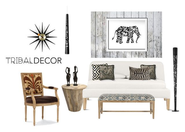 """Tribal Decor Contest"" by ericrasmussen ❤ liked on Polyvore featuring interior, interiors, interior design, home, home decor, interior decorating, Safavieh, Foscarini, Palecek and Frontgate"