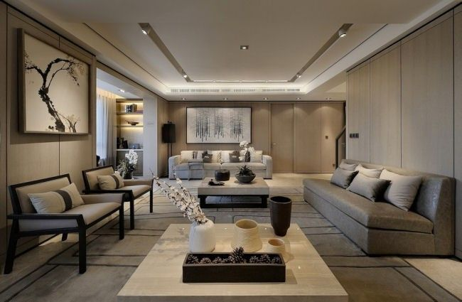 wan interiors residential park residence pinterest abgeh ngte decke living room. Black Bedroom Furniture Sets. Home Design Ideas