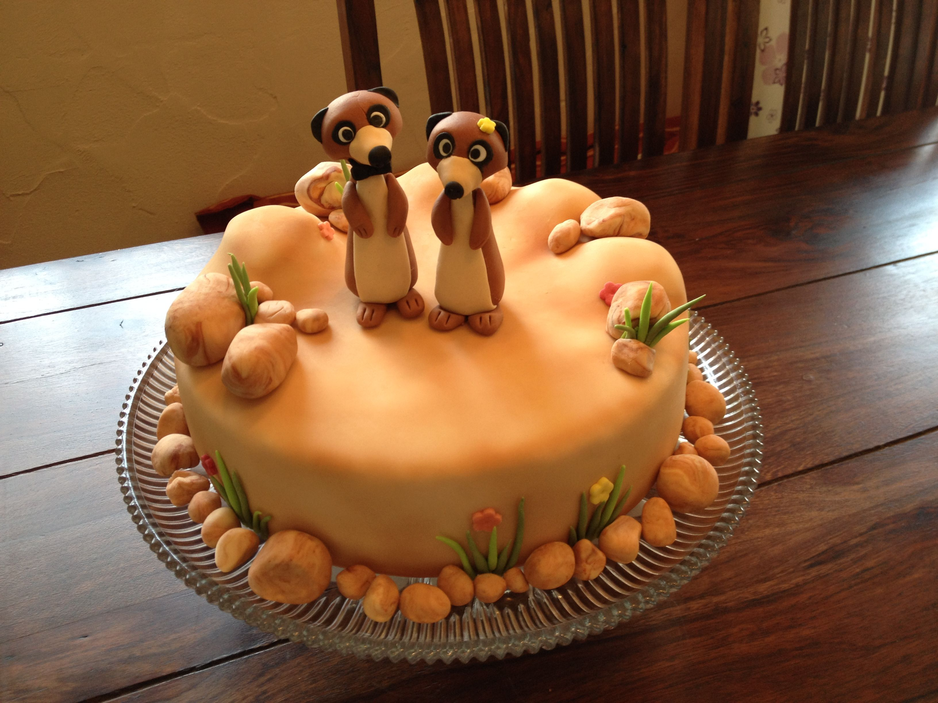 Meerkat Cake In 2019 Celebration Cakes Chocolate Cake Cake
