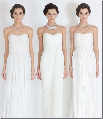 Grecian Wedding Gowns 2012 For Pregnant Brides Catherine Deane
