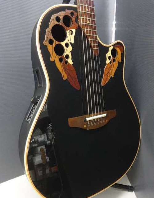 Ovation 1768 Elite Acoustic Electric Guitar Spruce Top W Hard Case Used F S Ovation
