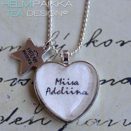 Tilaustyönä Miisa Adeliina kaulakoru <3