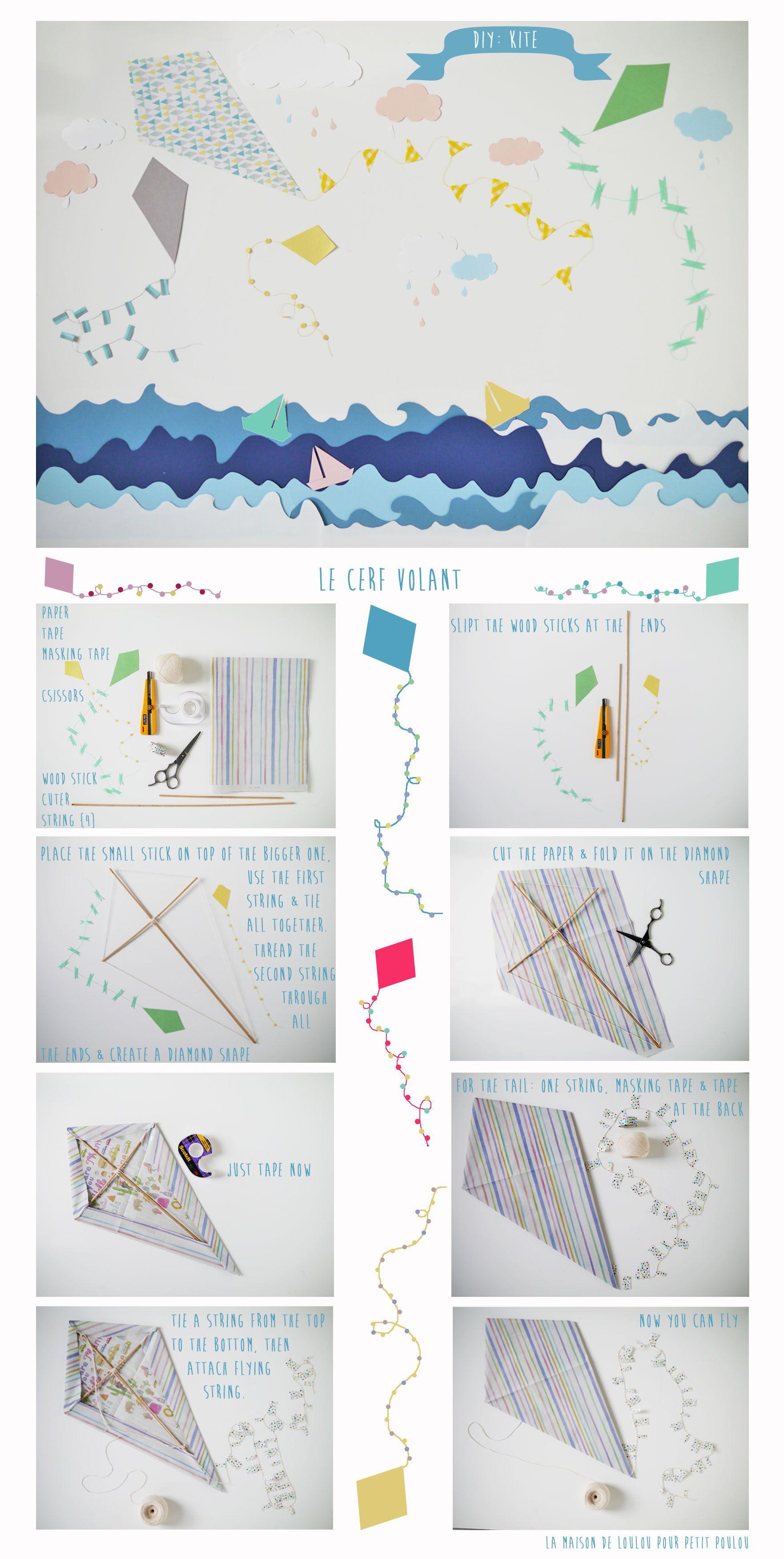 DIY Kite by La maison de Loulou for Petit Poulou blog