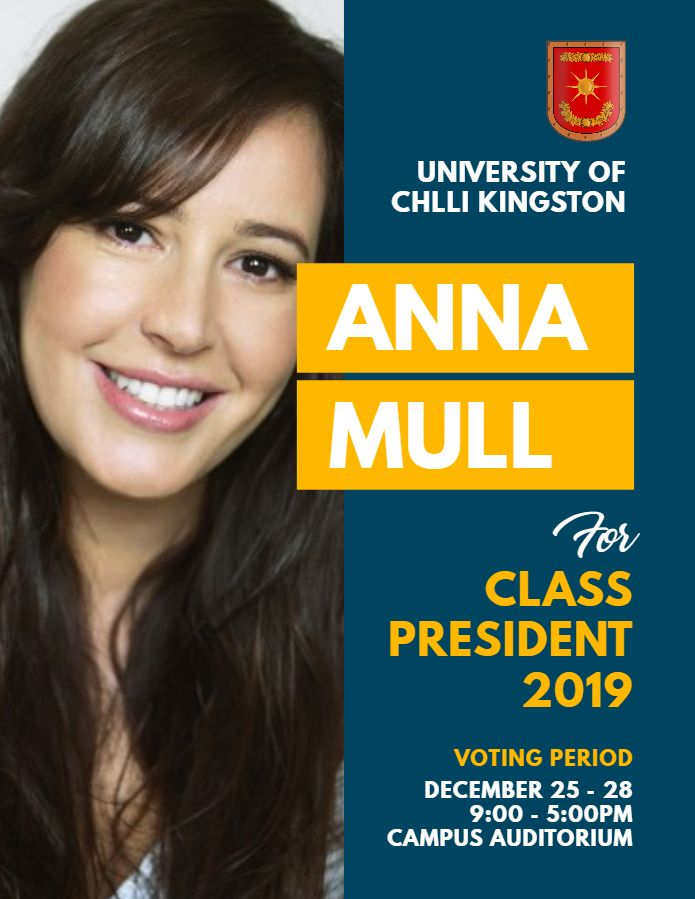 University Student Council Election Poster Flyer Template Election