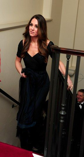 Kate Middleton In Jenny Packham Shows Us How To Wear A Black Dress