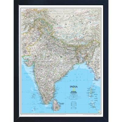 Winding Hills Designs Llc National Geographic Framed Interactive Wall Art Travel Map With Magnets India Classic Ng3026ind Cla The Home Depot Wall Maps History Wall Interactive Walls