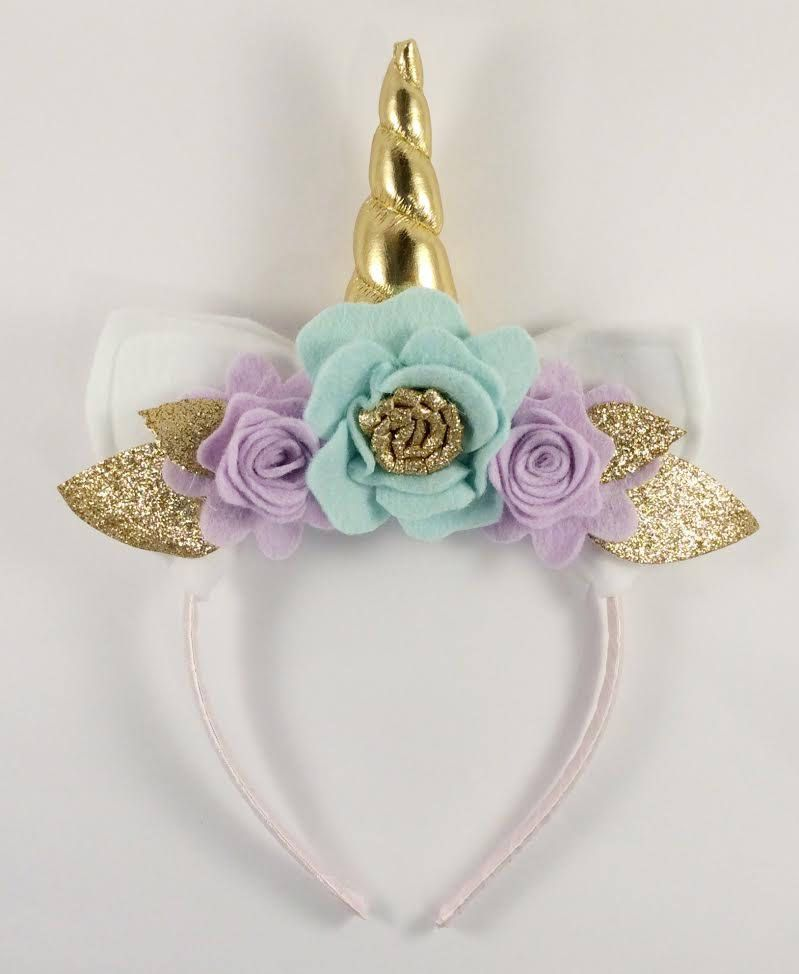 Gold and Lilac Unicorn Floral Crown - Unicorn Horn and Ears Headband -  Unicorn Headband by LittleLapins on Etsy 4645aeb1e2b