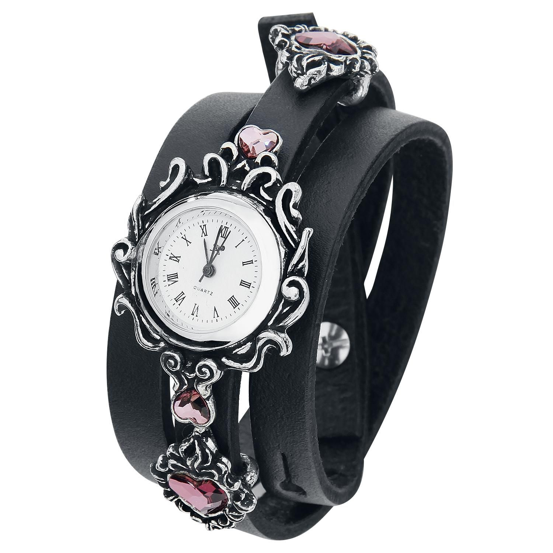 Heartfelt - Armbåndsur af Alchemy Gothic - Artikelnr.: 280807 - fra 799,95 kr - EMP Danmark ::: Merchandise ::: Streetwear ::: Modetøj