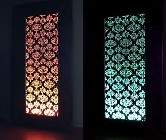 Damask Mirrors Damask mirrored led light up mirror panel so cool home decor damask mirrored led light up mirror panel so cool sisterspd