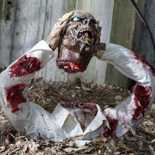 Homemade Outdoor Halloween Props Zombie Halloween Decoration Cool - zombie halloween decorations