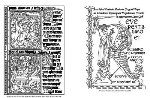 Enluminures Et Lettrines Manuscrit Moyen Age Coloriages