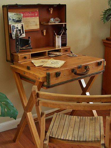 Pin By Rachael Haynes On British Colonial Bedroom Ideas Vintage Suitcase Table Campaign Furniture Painting Furniture Diy