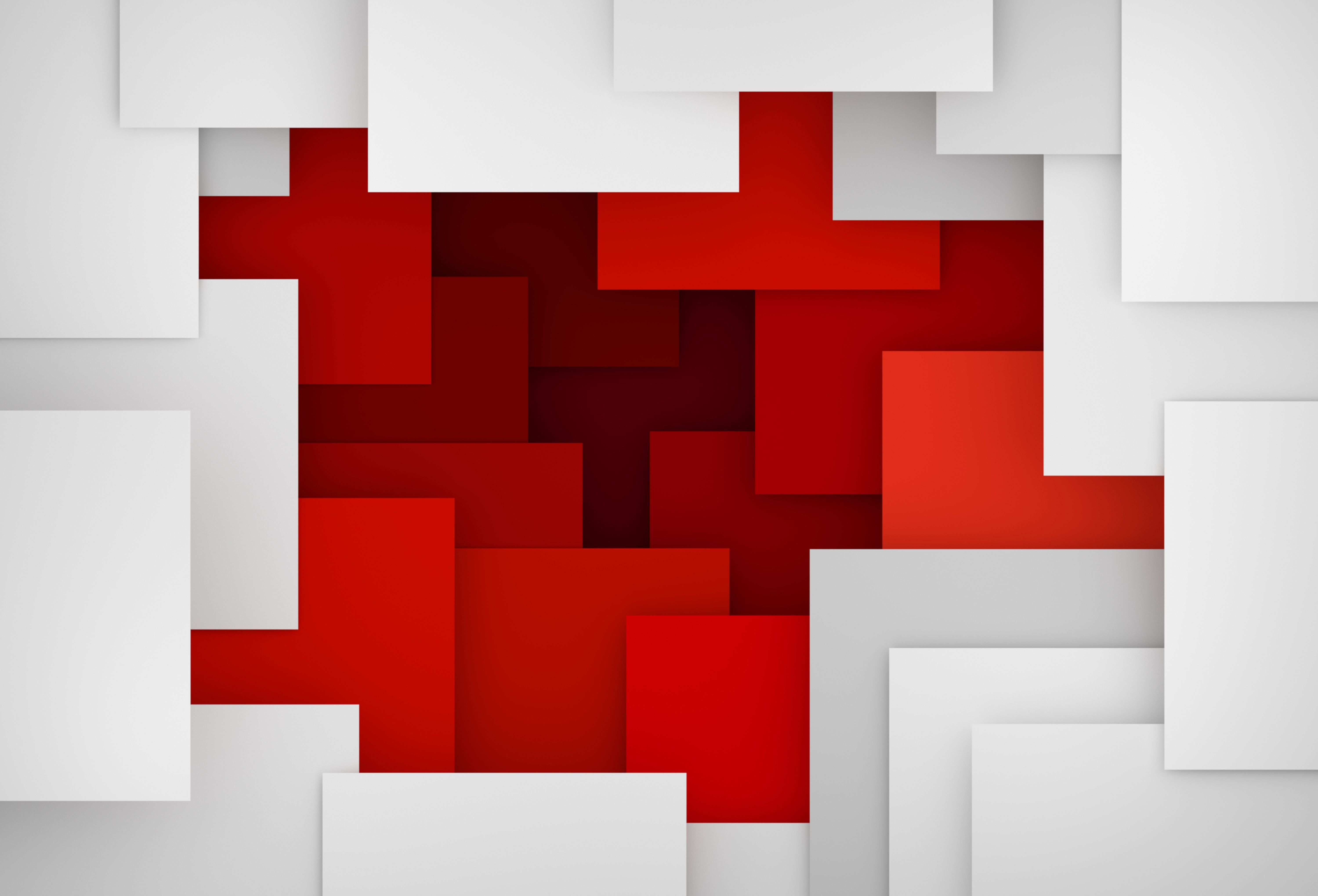 Artistic Geometry Red White 6k Abstract Screen Wallpaper Hd