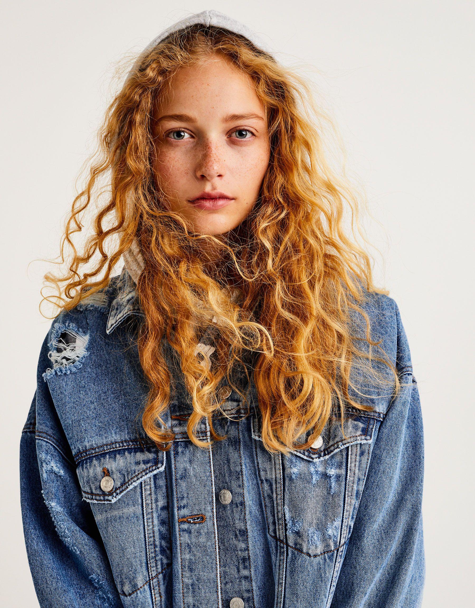 lowest price 8e84e 3b290 Long ripped denim jacket - Coats and jackets - Clothing ...