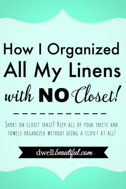 Short On Closet E Keep All Of You Towels Sheets And Linens Organized Without Using A At Use This Idea To It Under Control