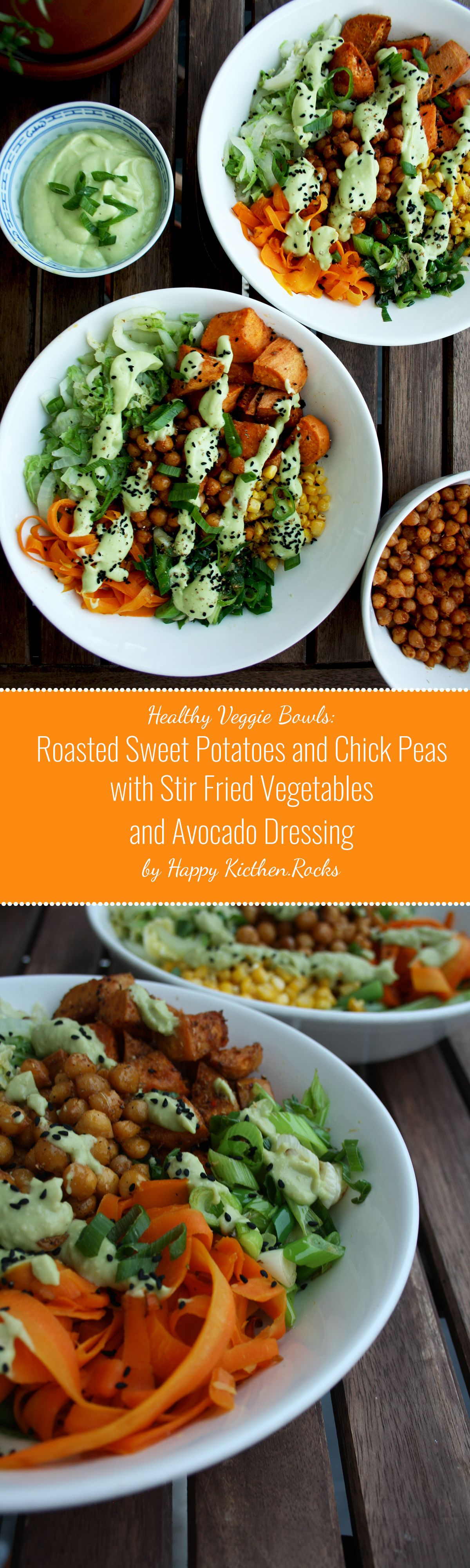 Healthy Veggie Bowls Roasted Sweet Potatoes And Chick Peas With