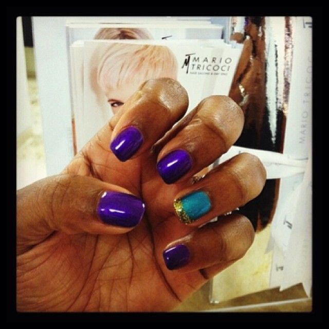 Their color wish is a #MarioTricoci Nail Tech's command. #NailTech #TricociCareers #SalonCareers #SpaCareers (Nails by: Kayse)