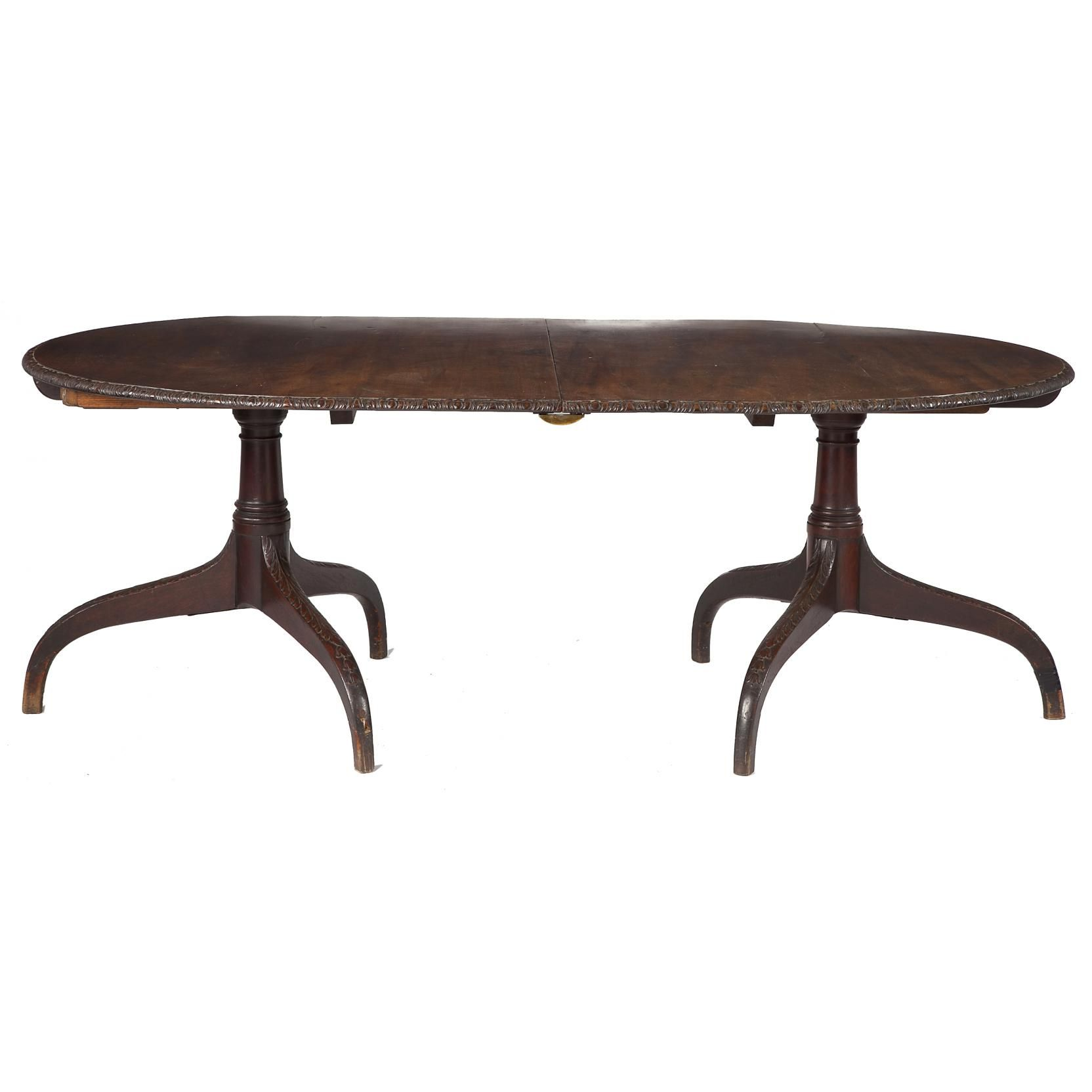 George III Style Double Pedestal Dining Table Sold $2,750.