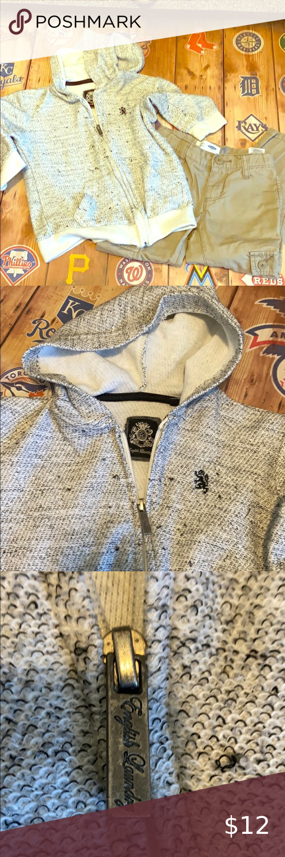 English Laundry Sweater Jacket And On Pants 4t English Laundry Zip Up Hooded Jacket Grey Marled Looking Knit Awesome Con Sweater Jacket English Laundry Pants [ 1740 x 580 Pixel ]