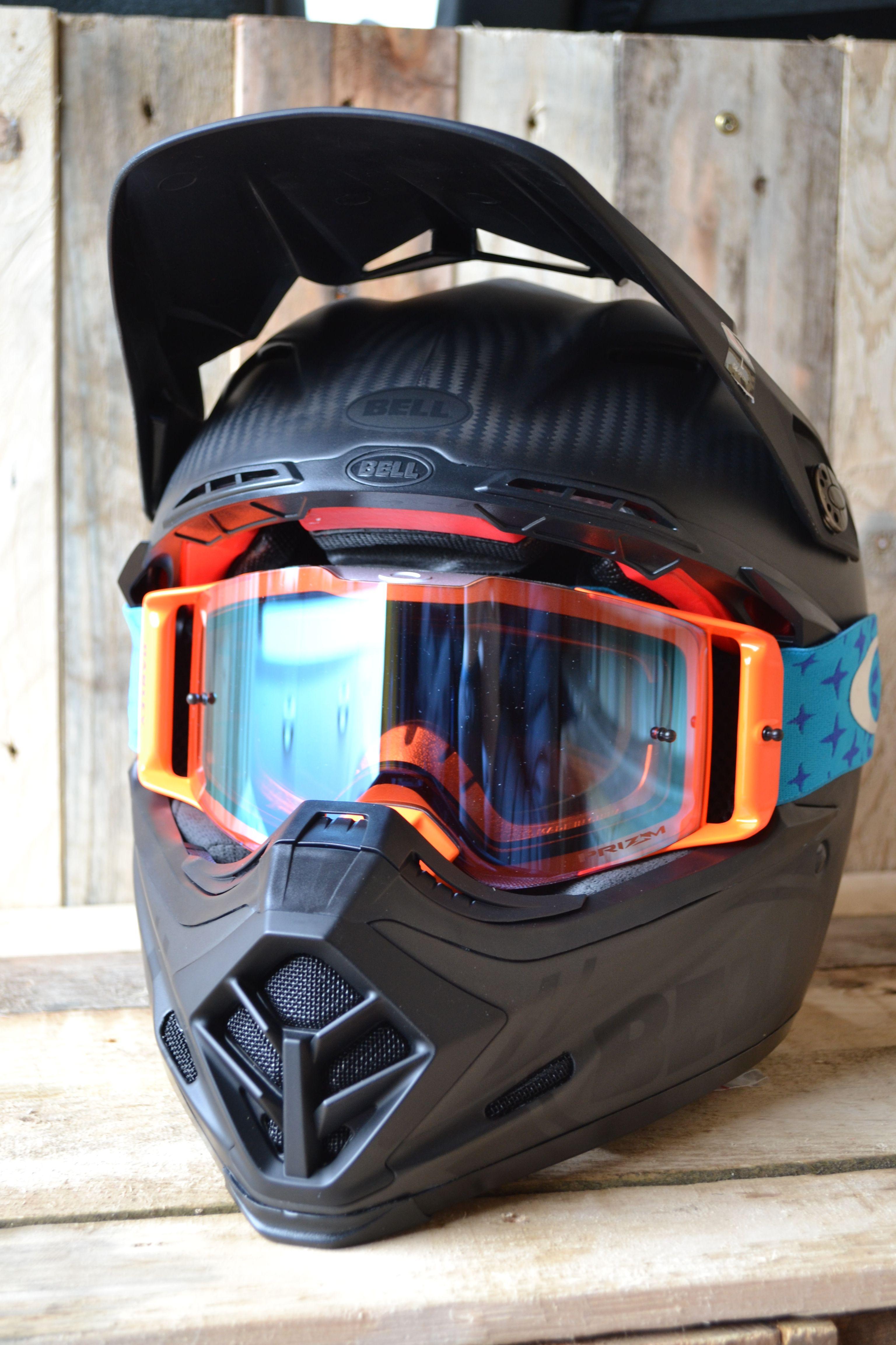 Bell Moto 9 Carbon Flex Helmet Syndrome Matte Black Helmets