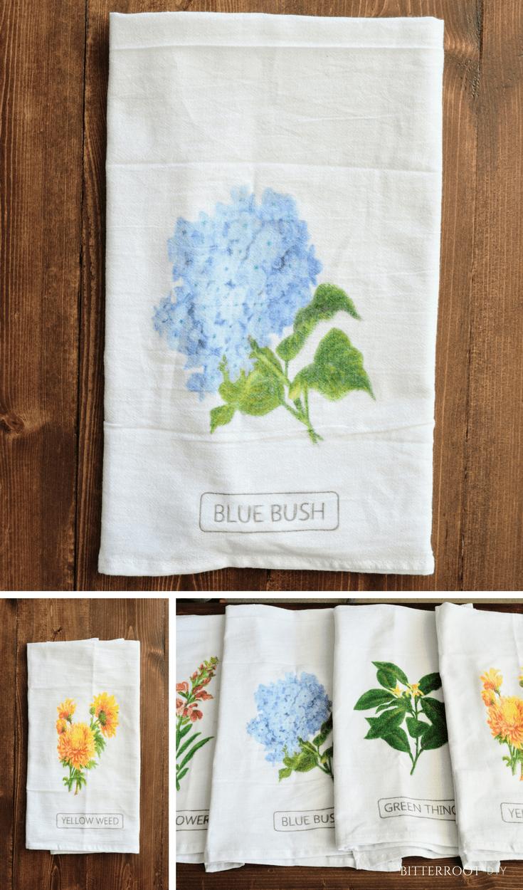 Diy spring tea towels towels teas and kitchens