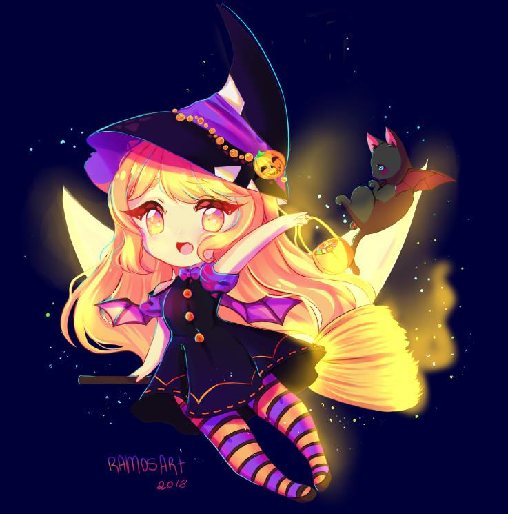 """Halloween!!!! Chibi Art Comission!"" Producción"