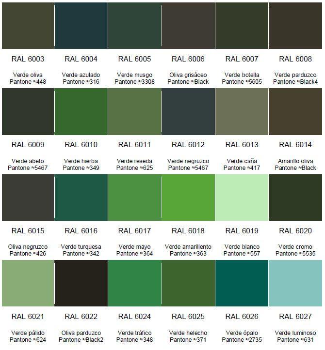 Verde que te quiero verde por nicanor g mez villegas en - Gama de colores verdes ...