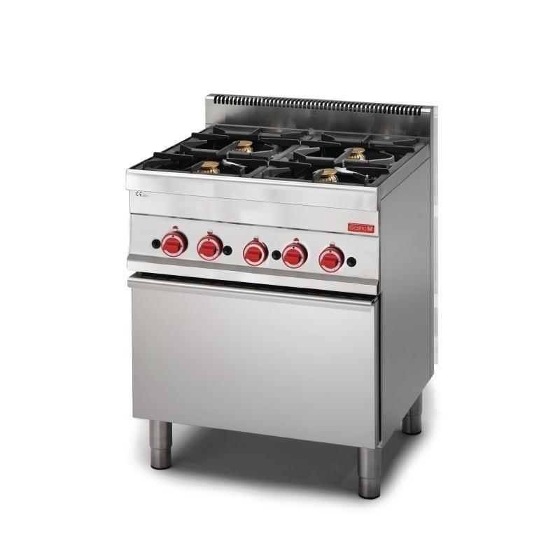 Cocina A Gas De 4 Fuegos Y Horno 65 70cfg Linea 650 Snack Gastro M