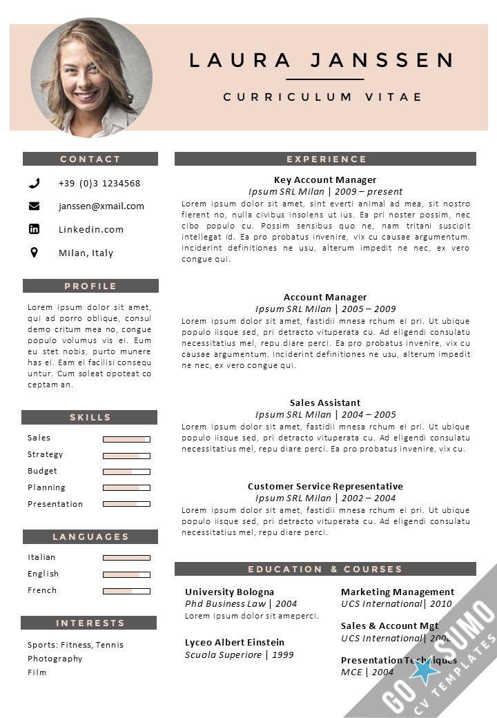 Cv Template English Cv template, Resume templates