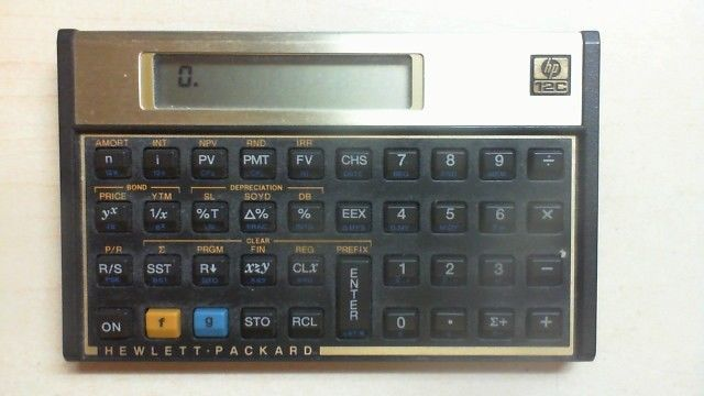 HP 12C Financial Calculator - Works Great! Used - FREE SHIPPING R8T3 - financial calculator